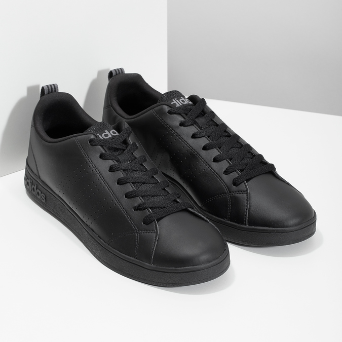 Men's black sneakers adidas, black , 801-6144 - 26
