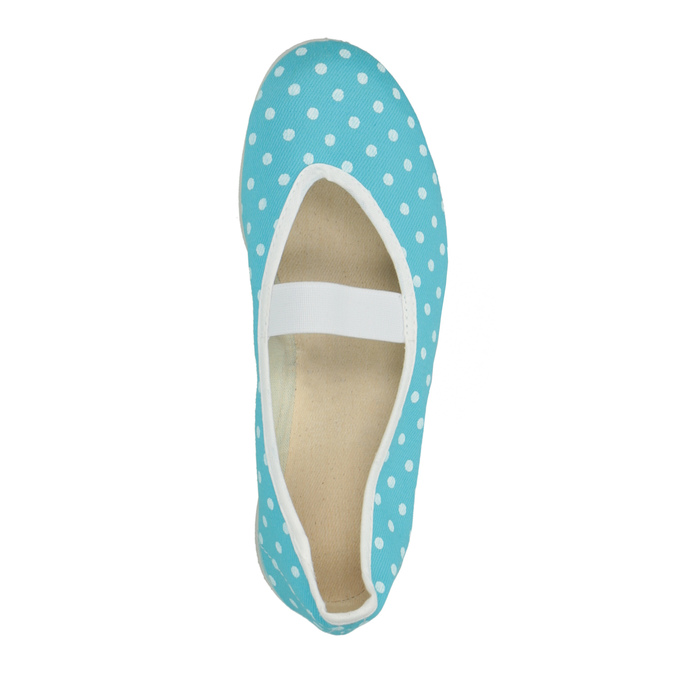 Blue gym shoes with polka dots, blue , 379-9103 - 19