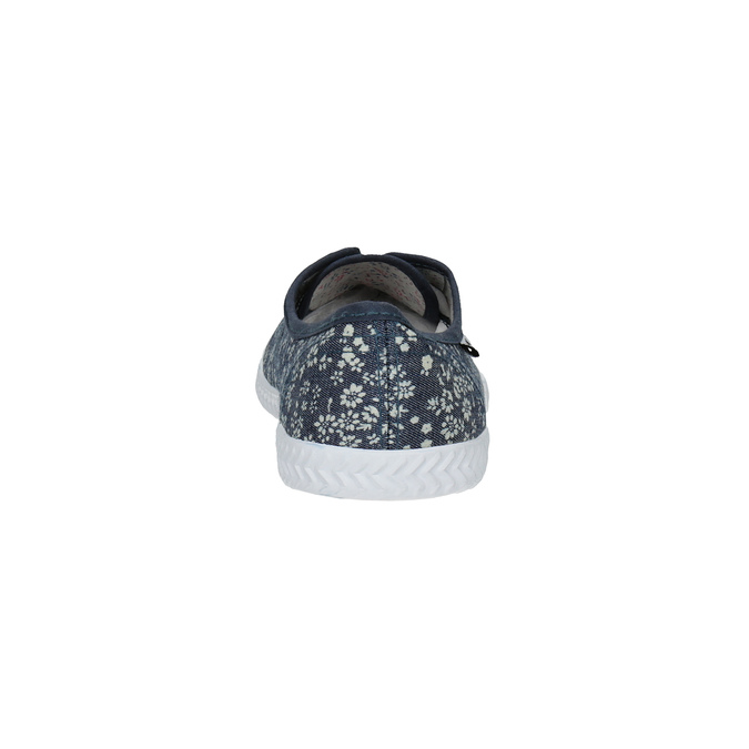 Women's sneakers with a floral design tomy-takkies, blue , 519-9692 - 17