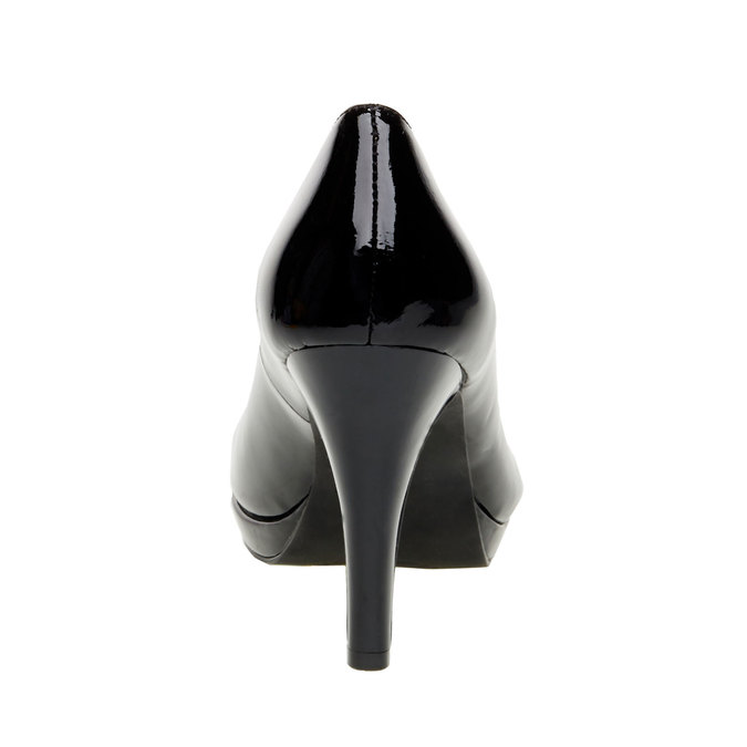 Patent leather pumps insolia, black , 728-6104 - 17