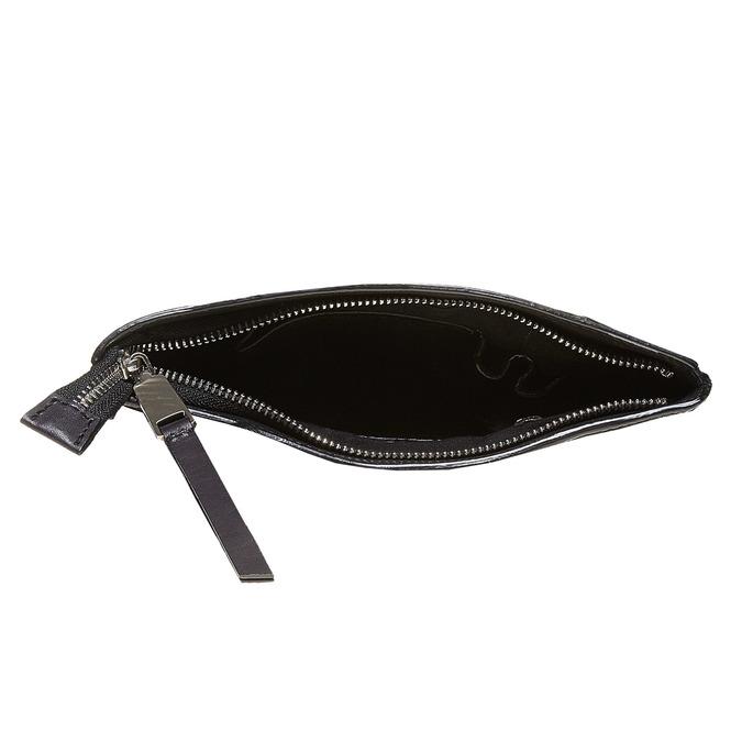 Leather cross body bata, black , 964-6131 - 15