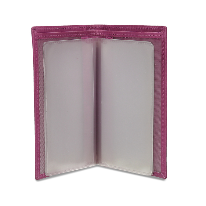 Leather document and card case, pink , 944-5158 - 15