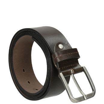 Men's leather belt bata, brown , 954-4106 - 13