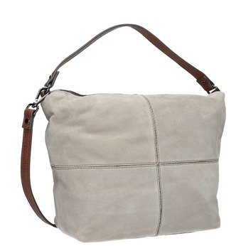 Leather Hobo-style handbag bata, gray , 963-2130 - 13