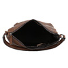 Brown leather handbag bata, brown , 964-3254 - 15