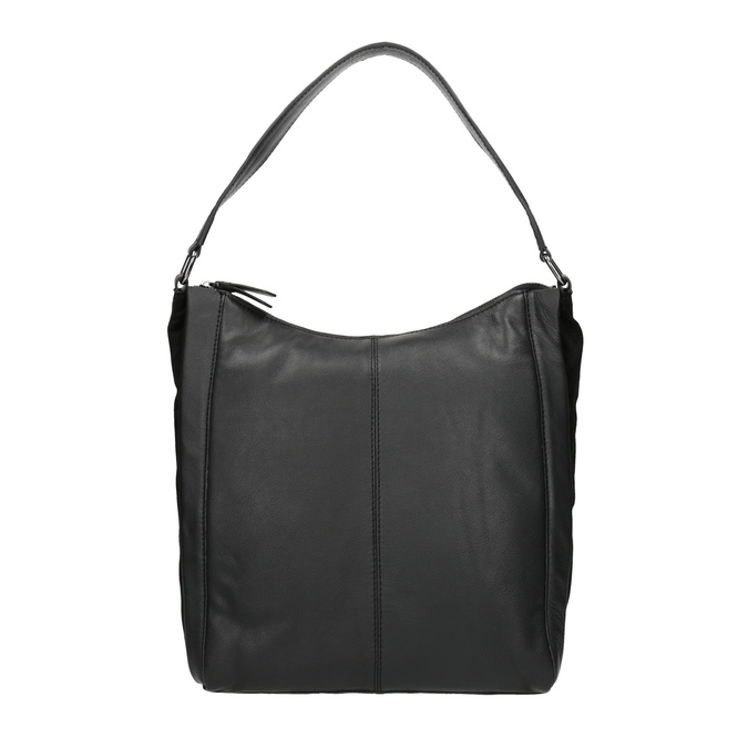 Hobo-style black leather handbag bata, black , 964-6254 - 26