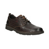 Casual leather shoes on a contrasting sole bata, brown , 824-4698 - 13