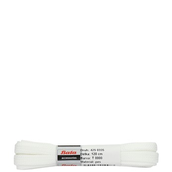 White laces bata, white , 901-1120 - 13