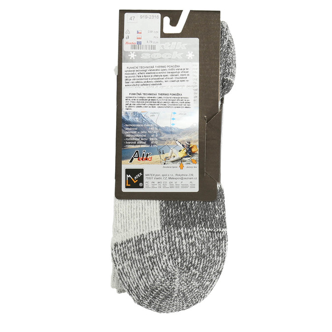 Men's outdoor socks, gray , 919-2316 - 15