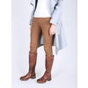 Brown leather high boots bata, brown , 594-4613 - 18