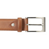 Men's brown leather belt bata, brown , 954-4153 - 26