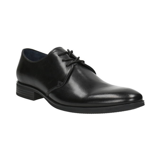 Black leather shoes bata, black , 824-6754 - 13