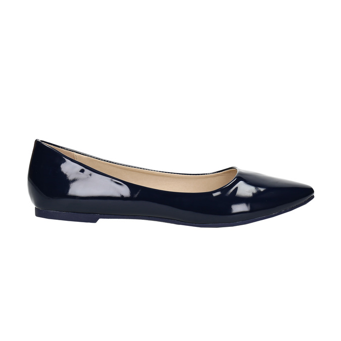 Ladies' patent leather ballerinas bata, blue , 521-2602 - 15