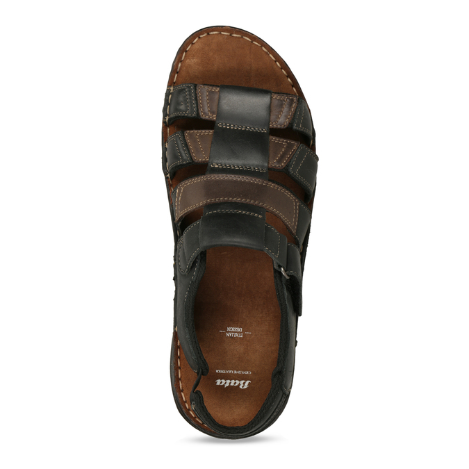 Men's leather sandals, brown , 866-4610 - 17