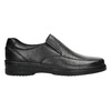 Men's leather moccasins pinosos, black , 814-6622 - 15