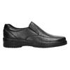 Men's leather moccasins, black , 814-6622 - 15