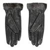 Ladies' leather gloves with fur, black , 904-6112 - 16