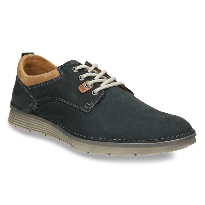 Casual leather shoes weinbrenner, blue , 846-9654 - 13
