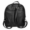 Black leather backpack, black , 964-6240 - 16