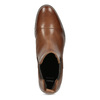 Brown leather Chelsea boots bata, brown , 594-4636 - 17