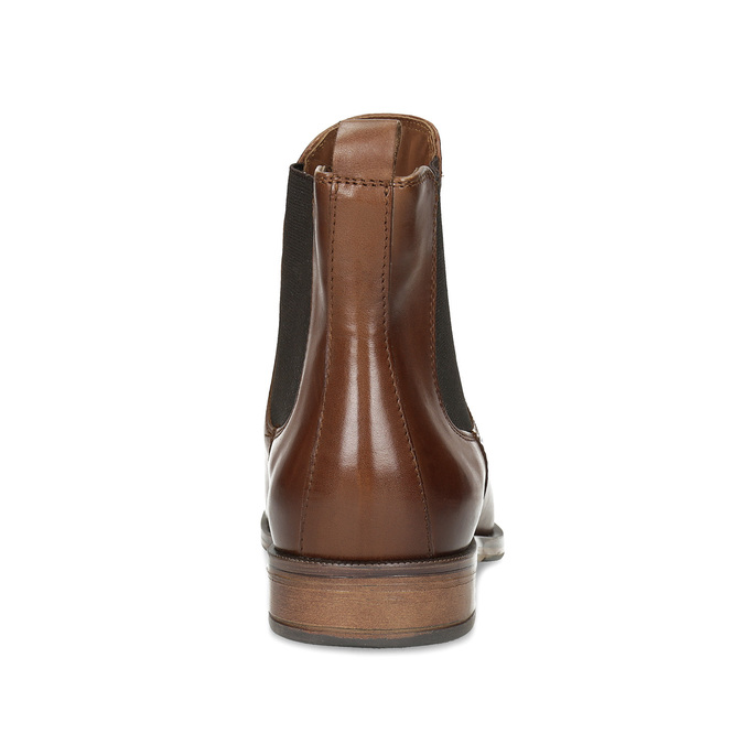 Brown leather Chelsea boots bata, brown , 594-4636 - 15
