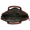 Men's leather bag with stitching, brown , 964-4139 - 15