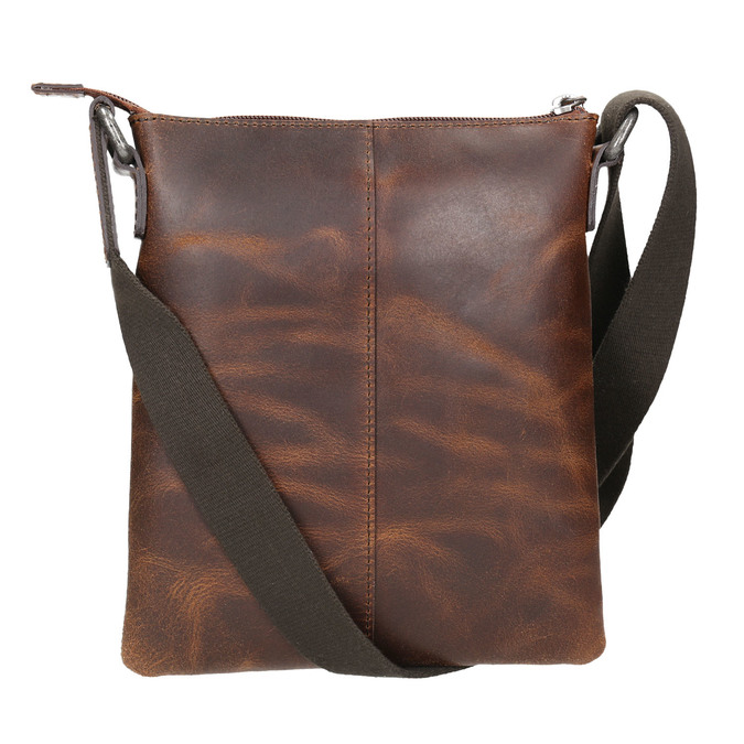 Men's leather crossbody bag, brown , 964-4140 - 26