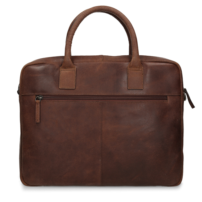 Men's leather bag with stitching bata, brown , 964-4139 - 26