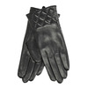 Ladies' black leather gloves, black , 904-6131 - 13
