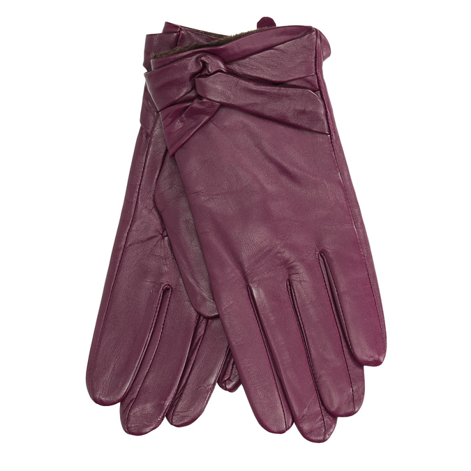 Ladies' leather gloves, violet , 904-0109 - 13