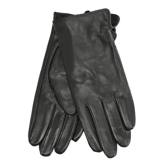 Ladies' leather gloves, black , 904-6129 - 13