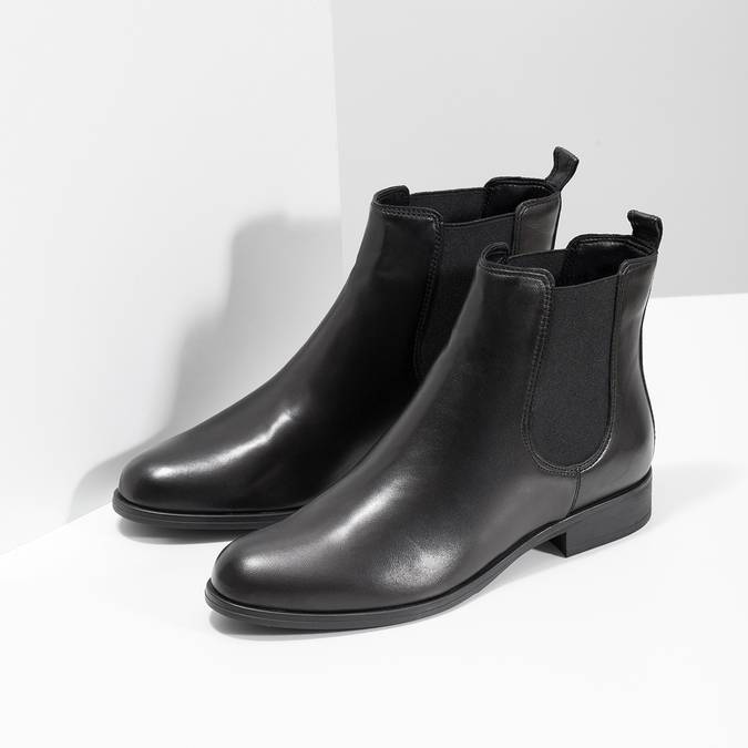 Ladies' Leather Chelsea Boots, black , 594-6661 - 26