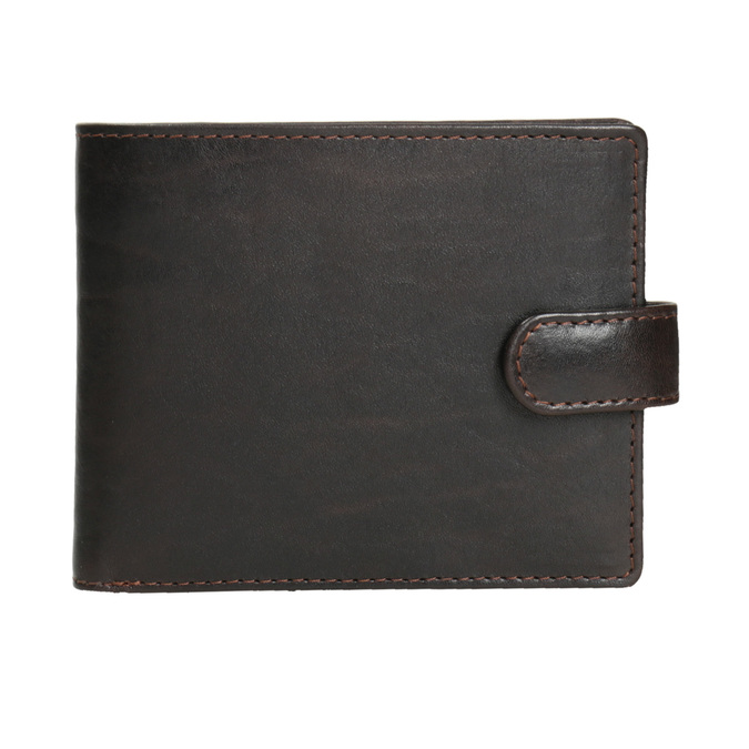 Men's leather wallet, brown , 944-4202 - 26