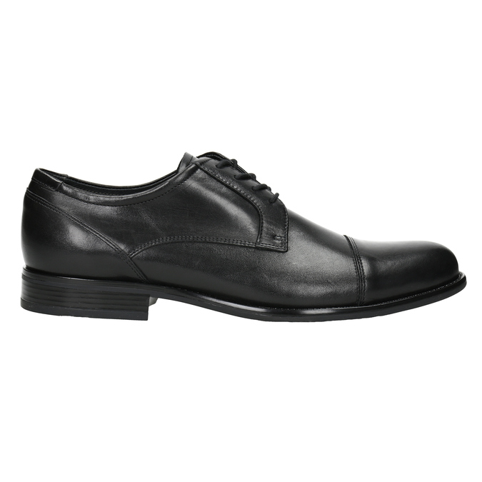 Men's Leather Derby Shoes bata, black , 824-6995 - 26