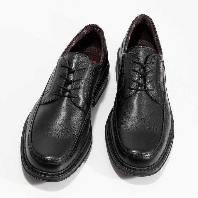 Men's leather dress shoes fluchos, black , 824-6448 - 16