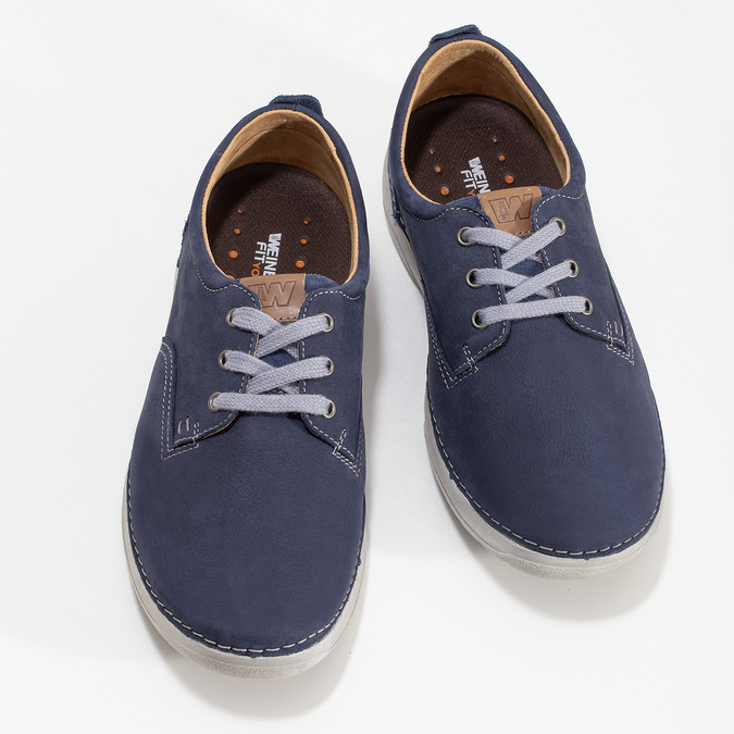 Casual leather shoes weinbrenner, blue , 846-9631 - 16