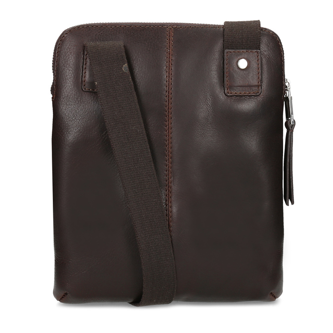 Leather crossbody bag bata, brown , 964-4237 - 16